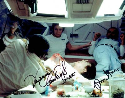 Alien Autograph Signed Photo Hurt & Cartwright